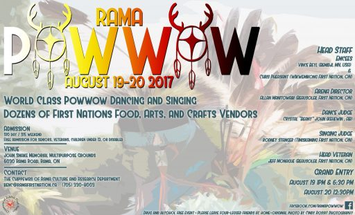 rama pow wow poster e1499953896352 - CHIPPEWAS OF RAMA FIRST NATION POWWOW