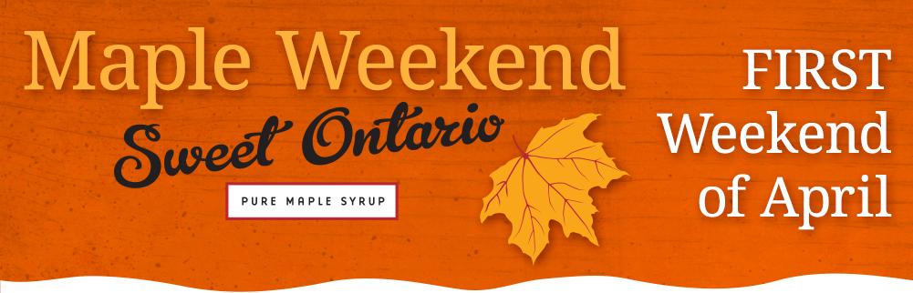 maple weekend sweet ontario banner 2016 - Maple Weekend