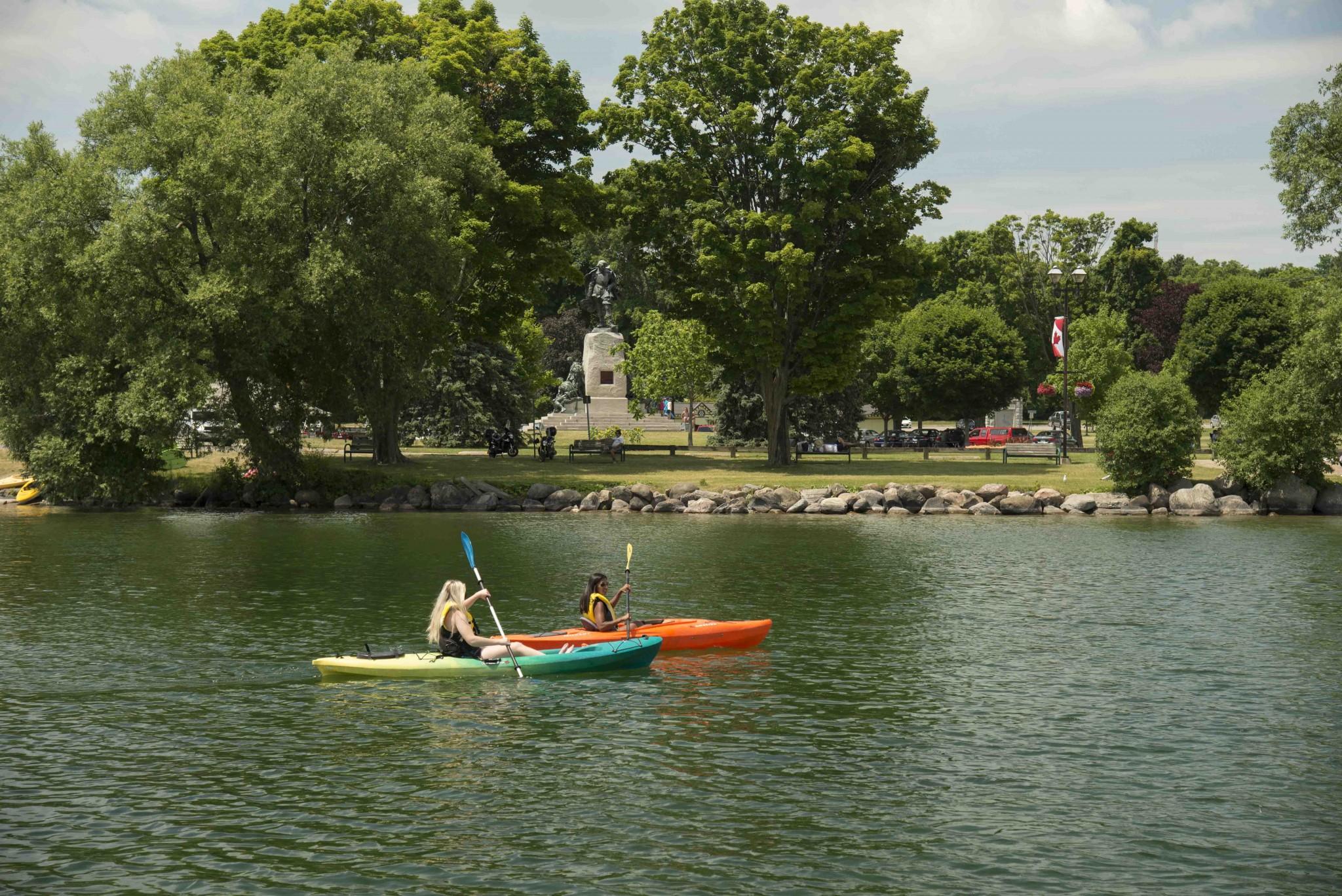 paddling lake couchiching orillia summer kayak - 10 Amazing Paddle Routes in Orillia and Lake Country