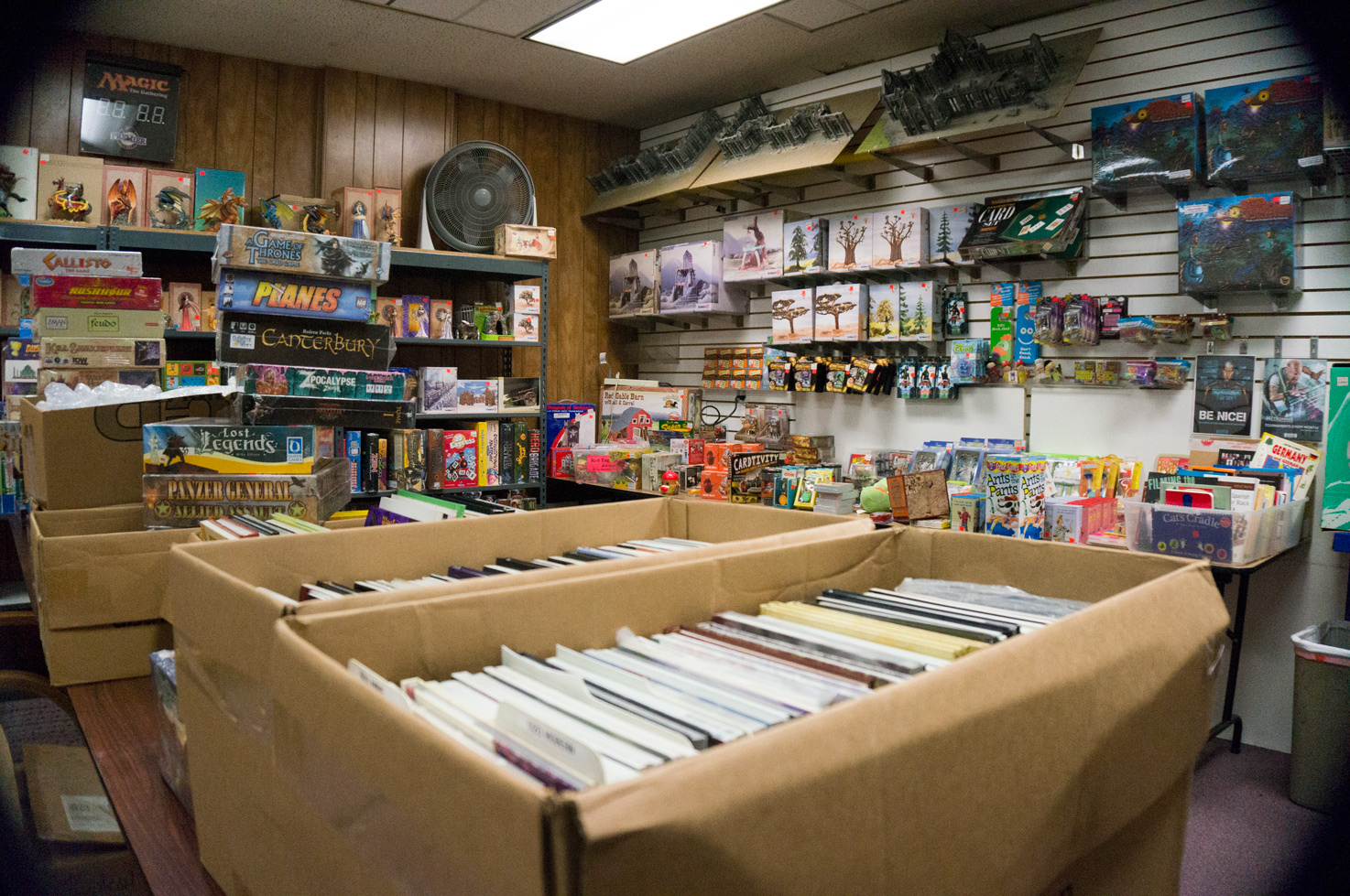 Bargain Sale Games of Berkeley shopping game store gifts discount cheap rpg - DR. COMICS GARAGE SALE & BARGAIN ROOM