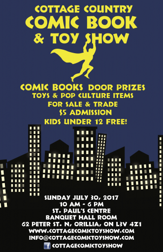 Cottage Show Poster e1498501982817 - Cottage Comic Book & Toy Show