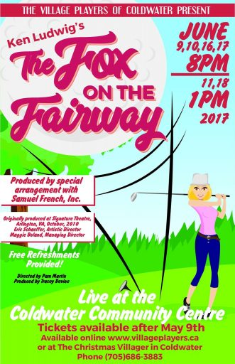 "FotF poster e1497360874749 - ""THE FOX ON THE FAIRWAY"""