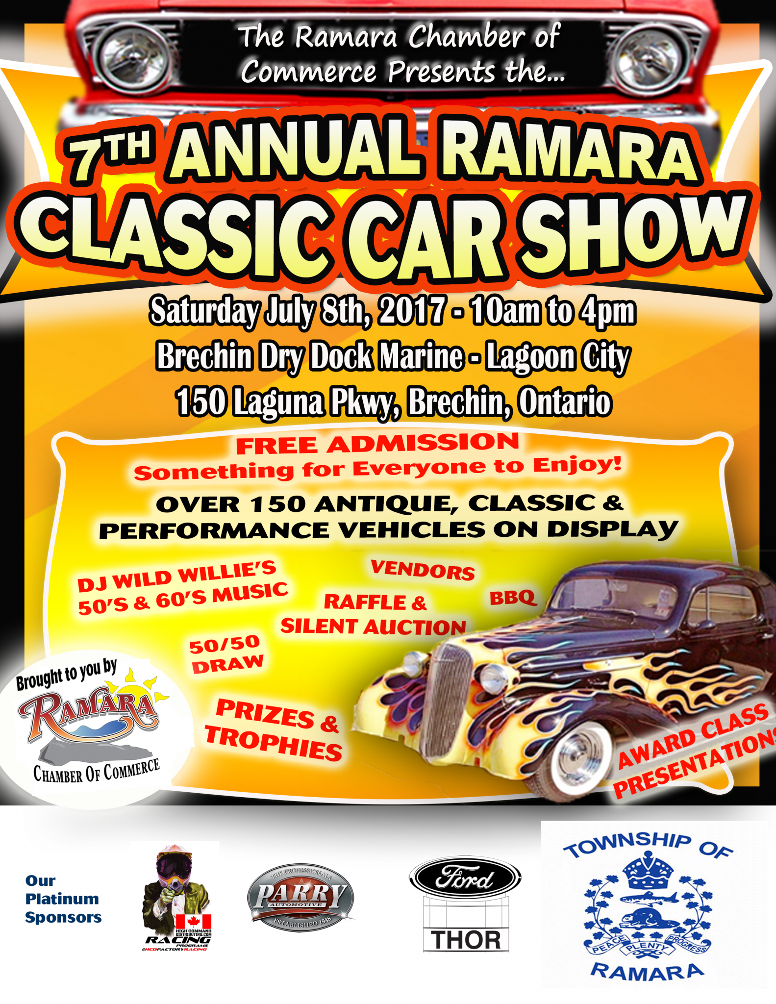 June7 2017 7thAnnualClassicCarShowPoster - 7th Annual Ramara Classic Car Show - Ramara Chamber of Commerce