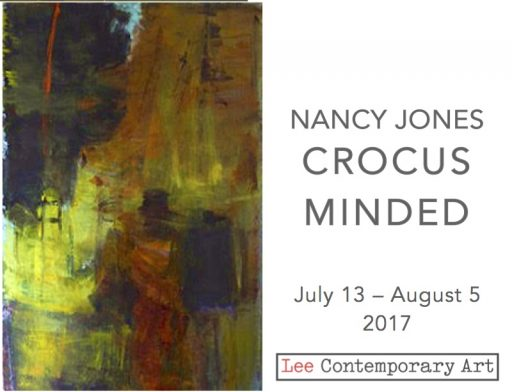 Nancy Jones invite 2017 front e1498764372936 - NANCY JONES: CROCUS MINDED, EXHIBIT OF NEW PAINTINGS