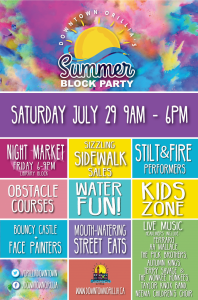 Poster Final 198x300 - DOWNTOWN ORILLIA'S SUMMER BLOCK PARTY & MURAL REVEAL