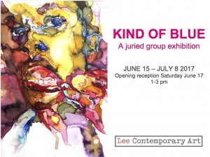 kind of blue invite front 300x225 - KIND OF BLUE: A JURIED GROUP EXHIBITION INSPIRED BY MILES DAVIS' 1959 ALBUM