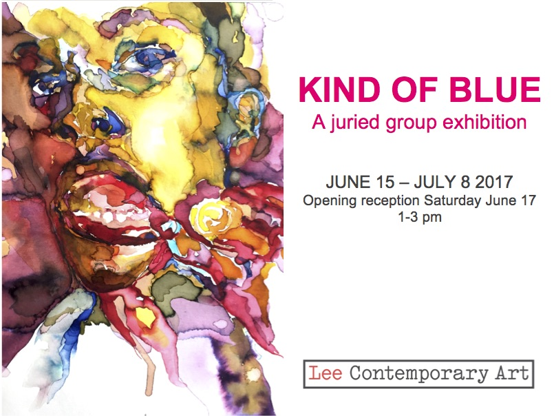kind of blue invite front - KIND OF BLUE: A JURIED GROUP EXHIBITION INSPIRED BY MILES DAVIS' 1959 ALBUM