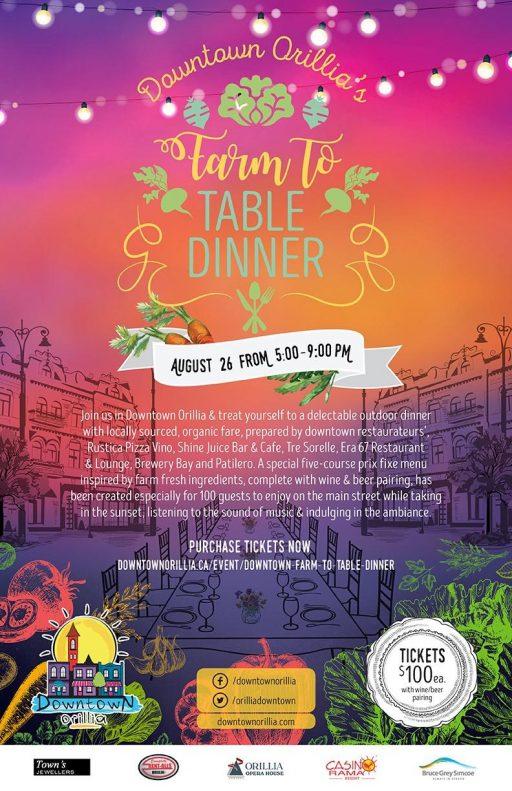 farm to table dinner 1 e1499955436963 - DOWNTOWN ORILLIA'S FARM TO TABLE DINNER