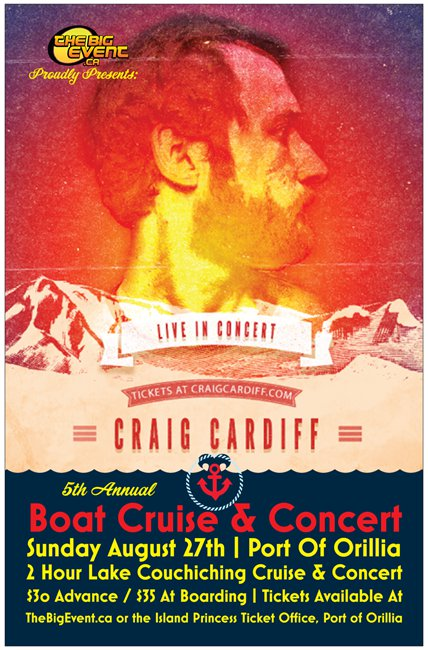 Poster Graphic Small - 5TH ANNUAL CRUISE & CONCERT FEATURING CRAIG CARDIFF