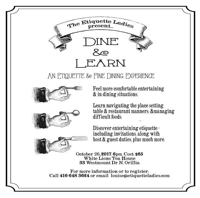 Etiquette dinner - ETIQUETTE DINNER