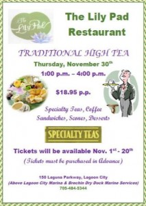 The Lily Pad Tea Time 213x300 - THE LILY PAD RESTAURANT