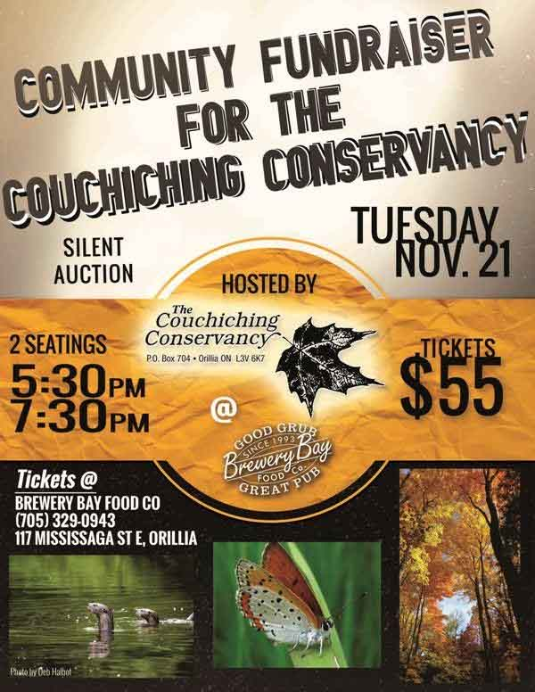 Brewery bay fund - COUCHICHING CONSERVANCY FUNDRAISER