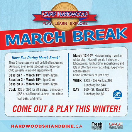 Hardwood March break - LEAKCOCK SUMMER FESTIVAL