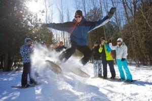 Snowshoe kick 300x200 - Wye Marsh Family Day Activities