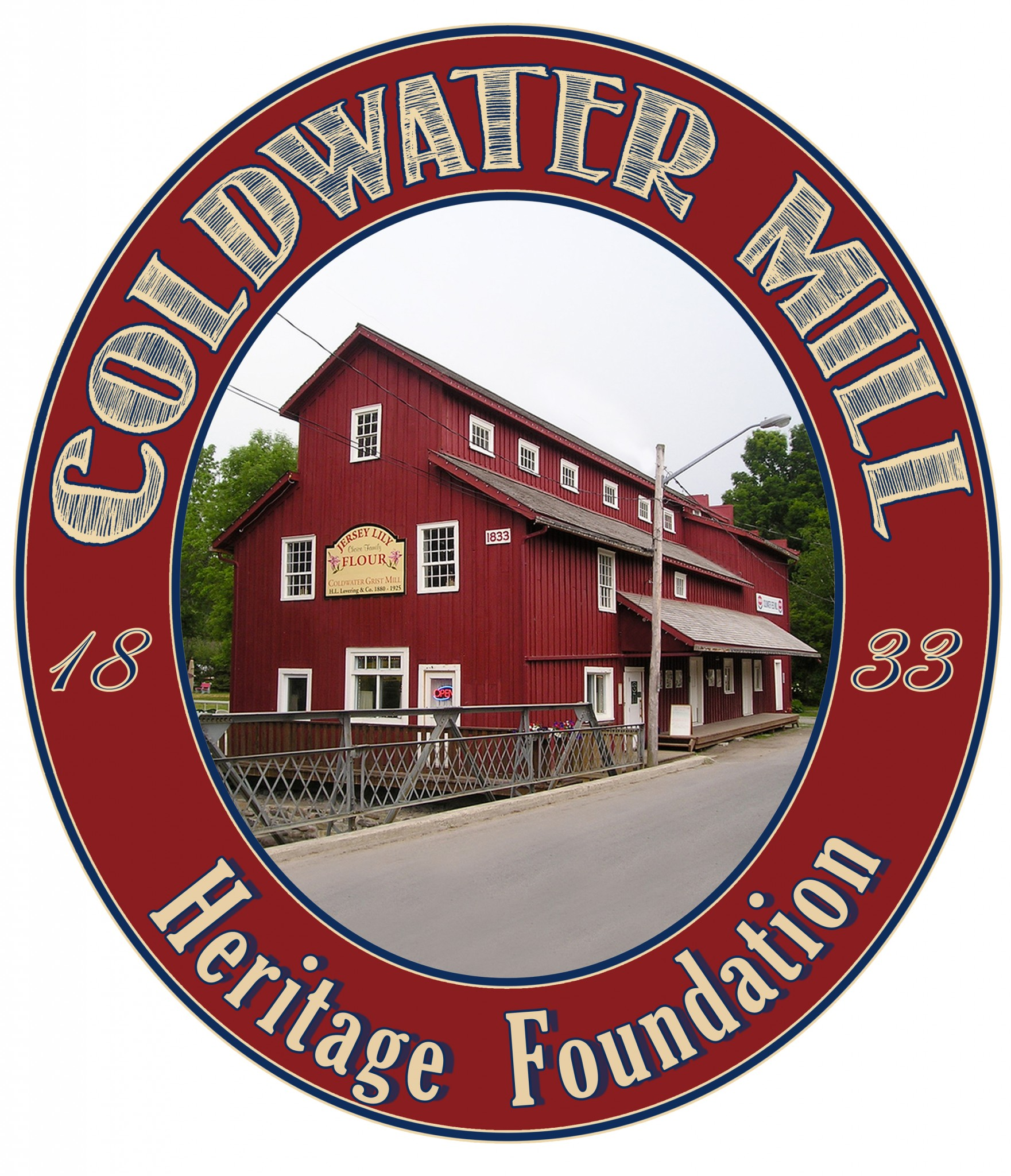 coldwater mill logo colour version - COLDWATER MILL AND SEVERN TOWNSHIP LIBRARY CHRISTMAS MARKET