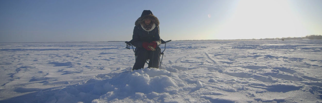 Fishing outide 1250x400 - Ice Fishing in Ontario's Lake Country