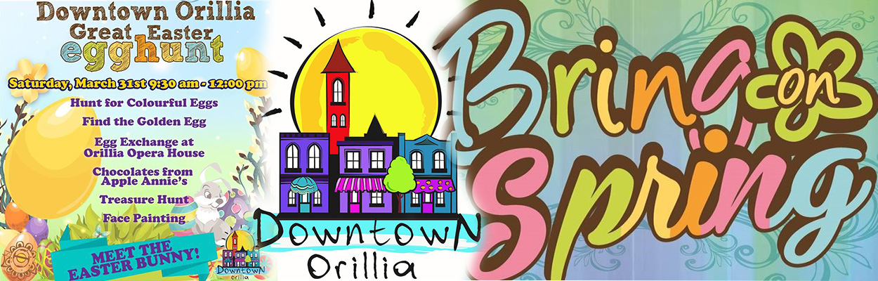 Easter Egg Hunt Downtown Orillia 1250x400 - Top 5 Hoppin' Things To Do This Easter Weekend in Ontario's Lake Country