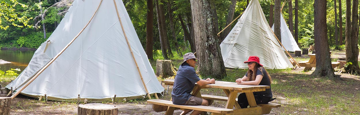 Black River Lunch Tipi - The Passionate Paddler Visits OLC
