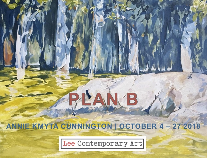 AKC 2018 invite front - ANNIE KMYTA CUNNINGTON: PLAN B. AN EXHIBITION OF NEW PAINTINGS