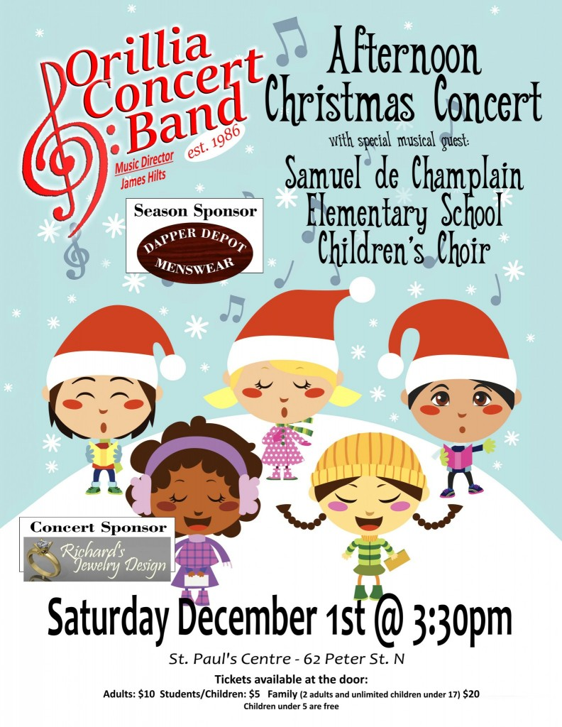 Afternoon Poster e1540387499420 - ORILLIA CONCERT BAND AFTERNOON CHRISTMAS CONCERT