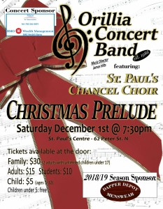 Evening Poster 233x300 - Orillia Concert Band Christmas Prelude