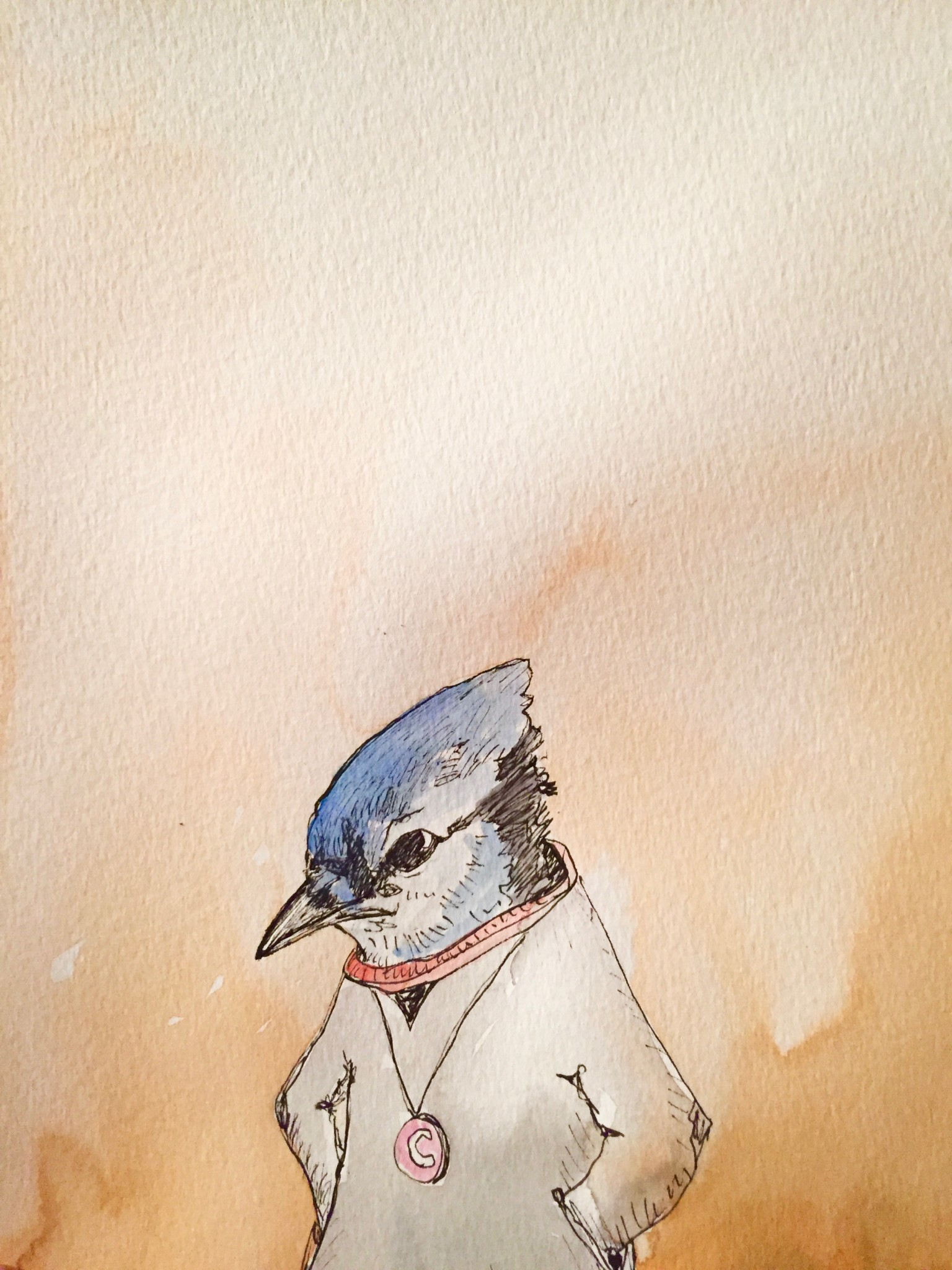 Bewabon Blue Jay Caricature C - IF ONLY I'D RECEIVE ART FOR CHRISTMAS IV