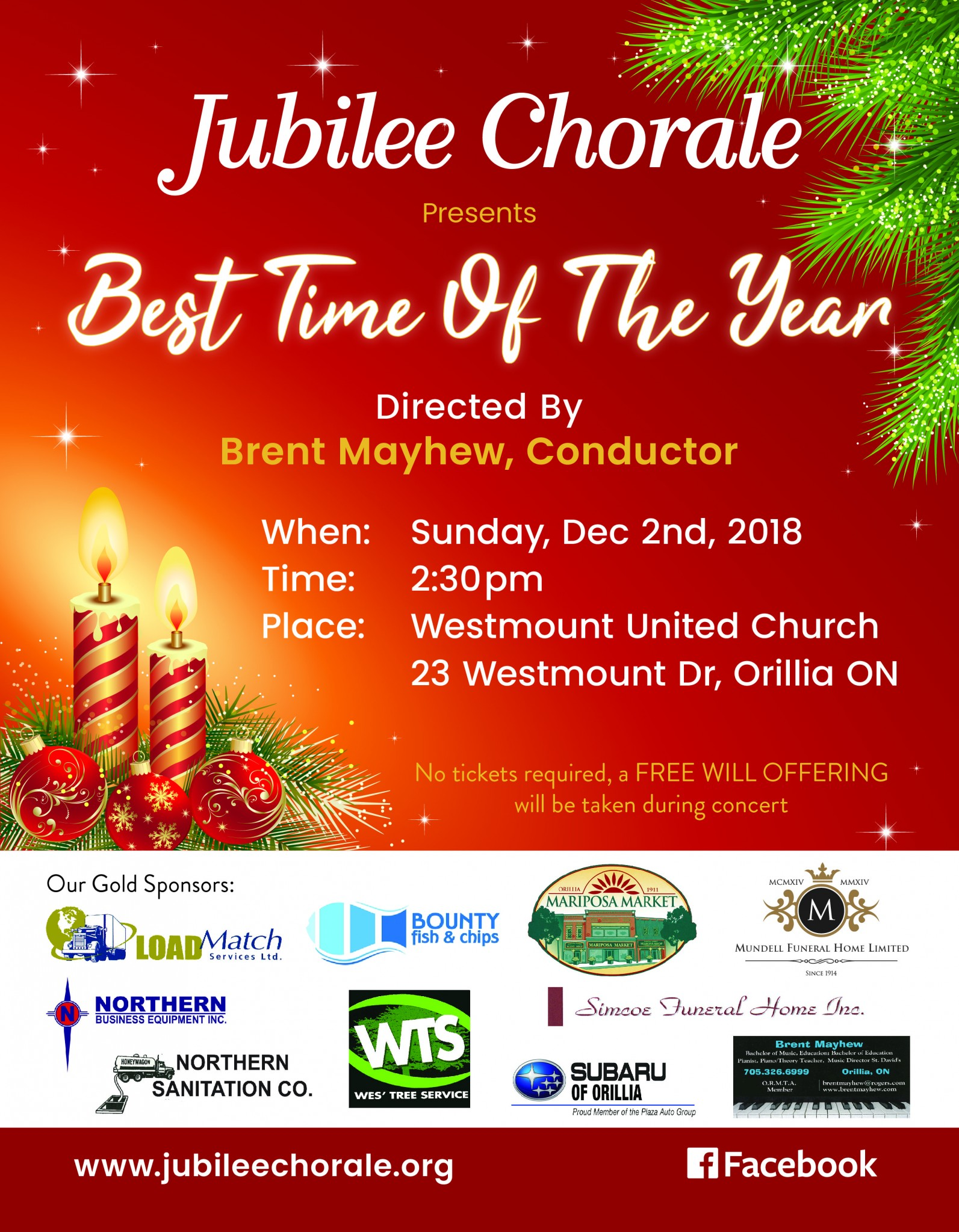 JC Dec 2 18 poster - JUBILEE CHORALE CONCERT - BEST TIME OF THE YEAR