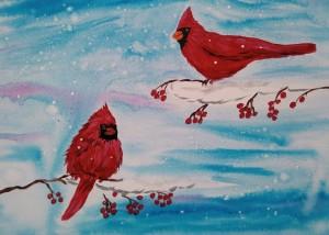 cardinals mine 300x214 - PAINT NIGHT ORILLIA