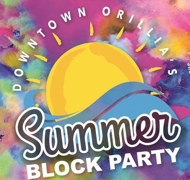 Summer Block Party logo - DOWNTOWN ORILLIA'S SUMMER BLOCK PARTY