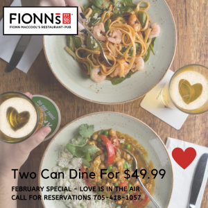 Two Can Dine For 49.99 300x300 - FIONN MACCOOL'S ORILLIA WATERFRONT