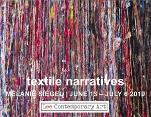 Melanie Siegel invite front 300x233 - MELANIE SIEGEL: TEXTILE NARRATIVES. AN EXHIBITION OF MIXED MEDIA TEXTILES