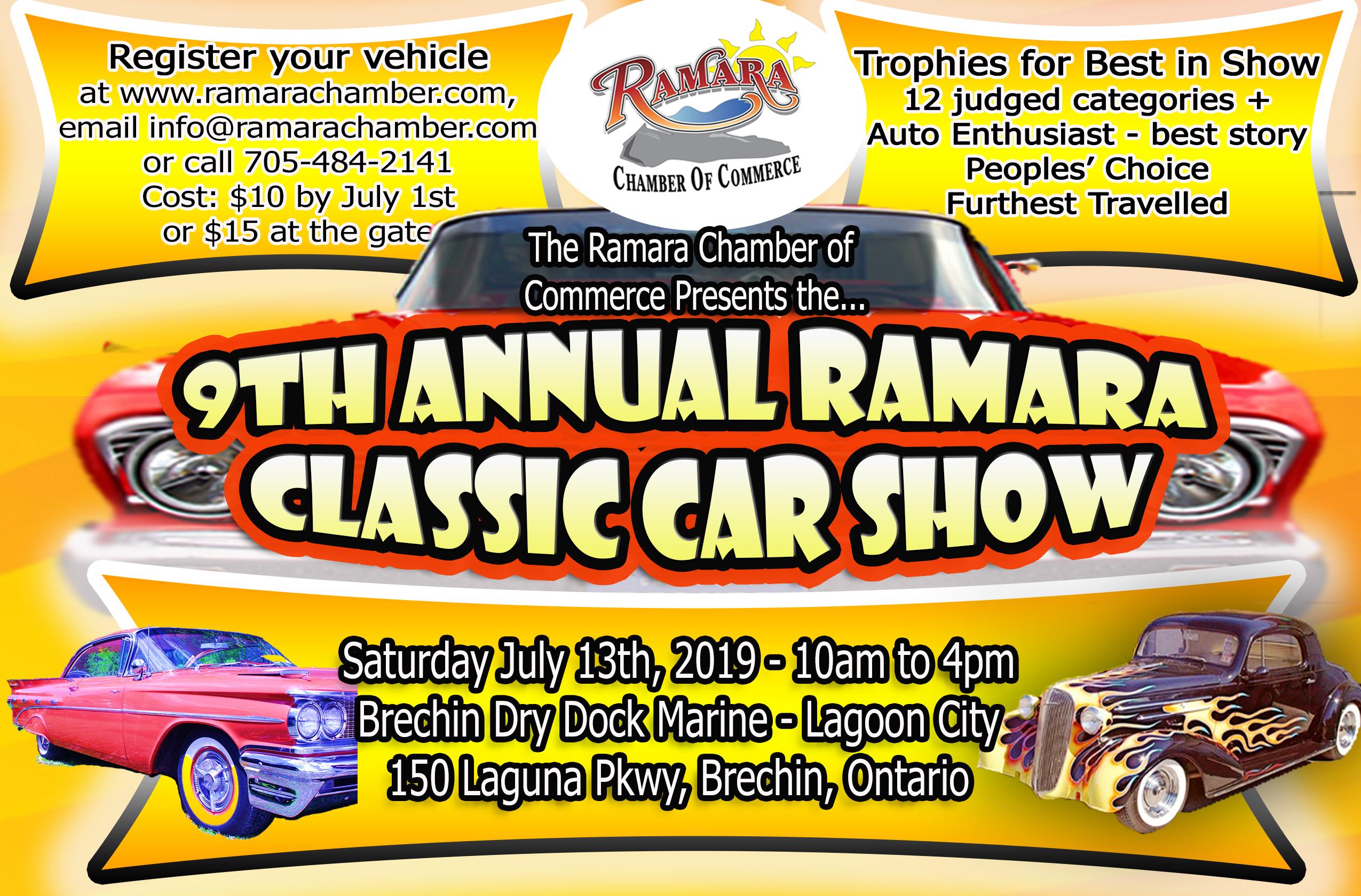 2019 Car Show Admission half page old autos2 1 - 9TH ANNUAL RAMARA CLASSIC CAR SHOW