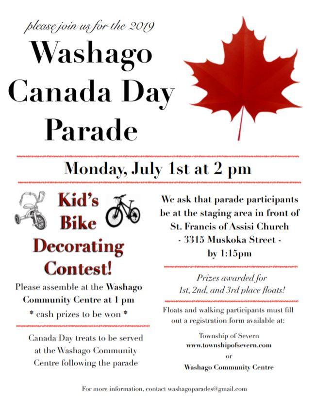 WASHAGO - WASHAGO CANADA DAY PARADE!