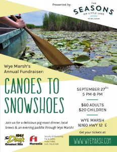Cts Poster 232x300 - WYE MARSH ANNUAL FUNDRAISER: CANOES TO SNOWSHOES