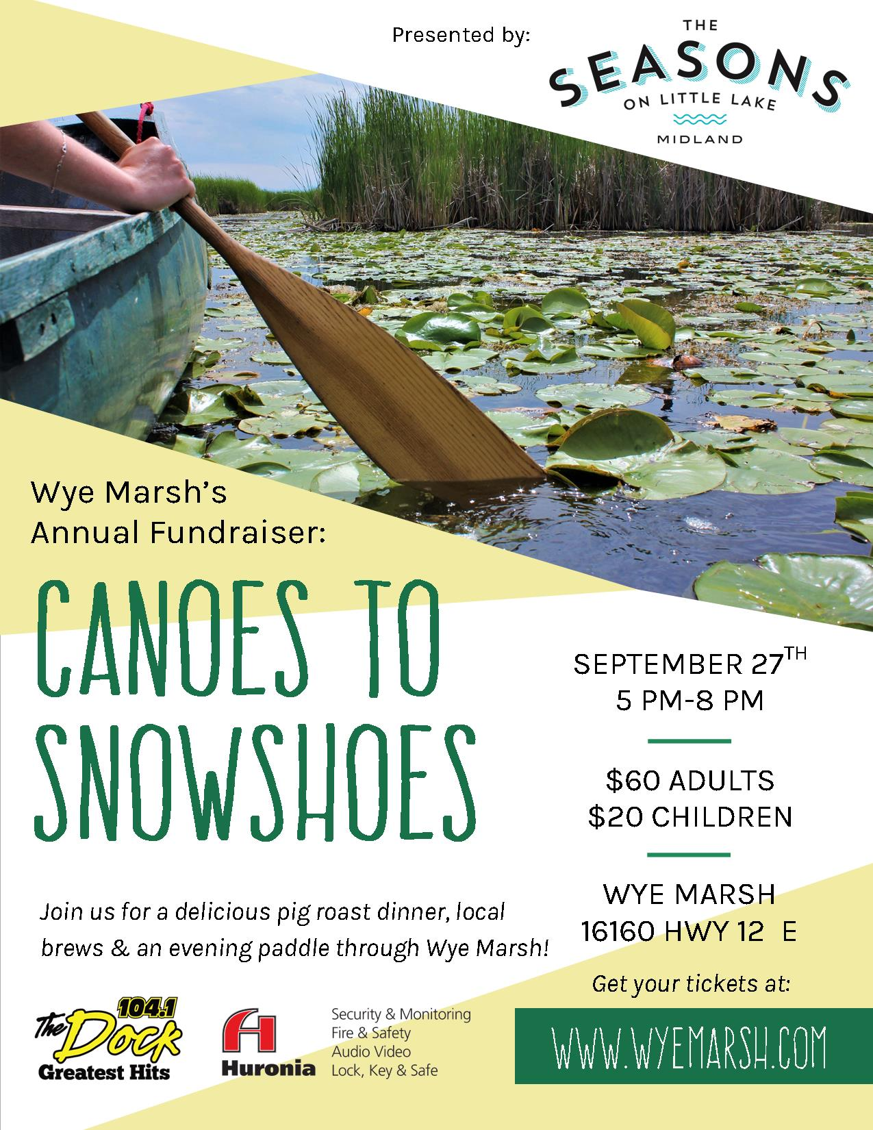 Cts Poster - WYE MARSH ANNUAL FUNDRAISER: CANOES TO SNOWSHOES