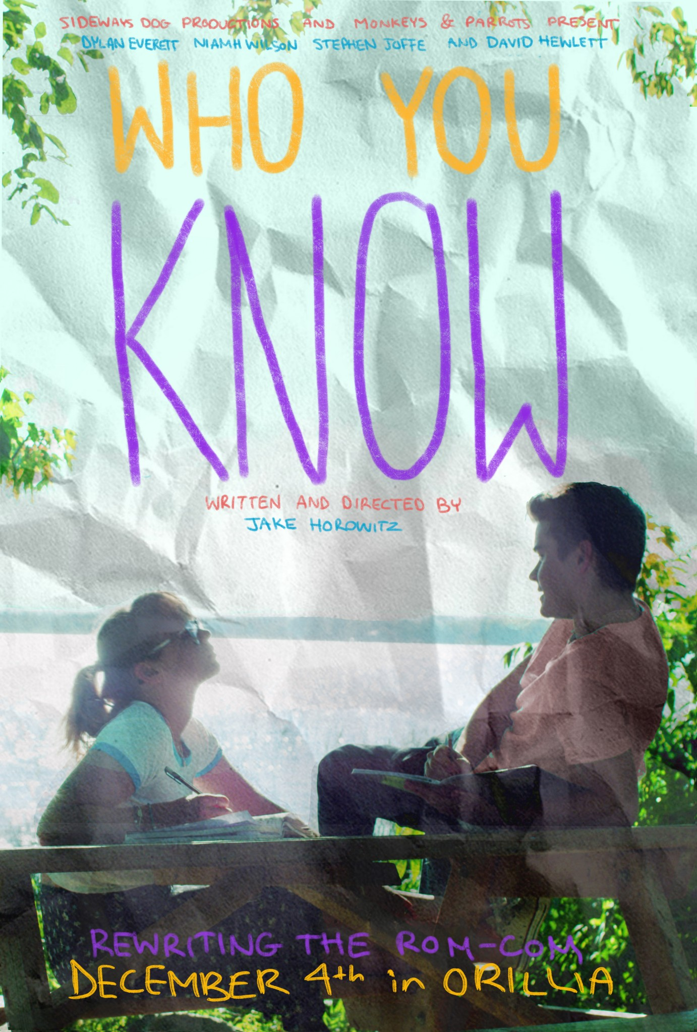 Orillia screening poster jpeg - WHO YOU KNOW - FILM PREMIERE