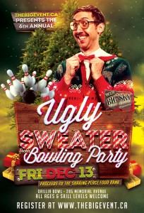 Ugly Sweater Poster 2019 204x300 - 6TH ANNUAL UGLY SWEATER BOWLING PARTY