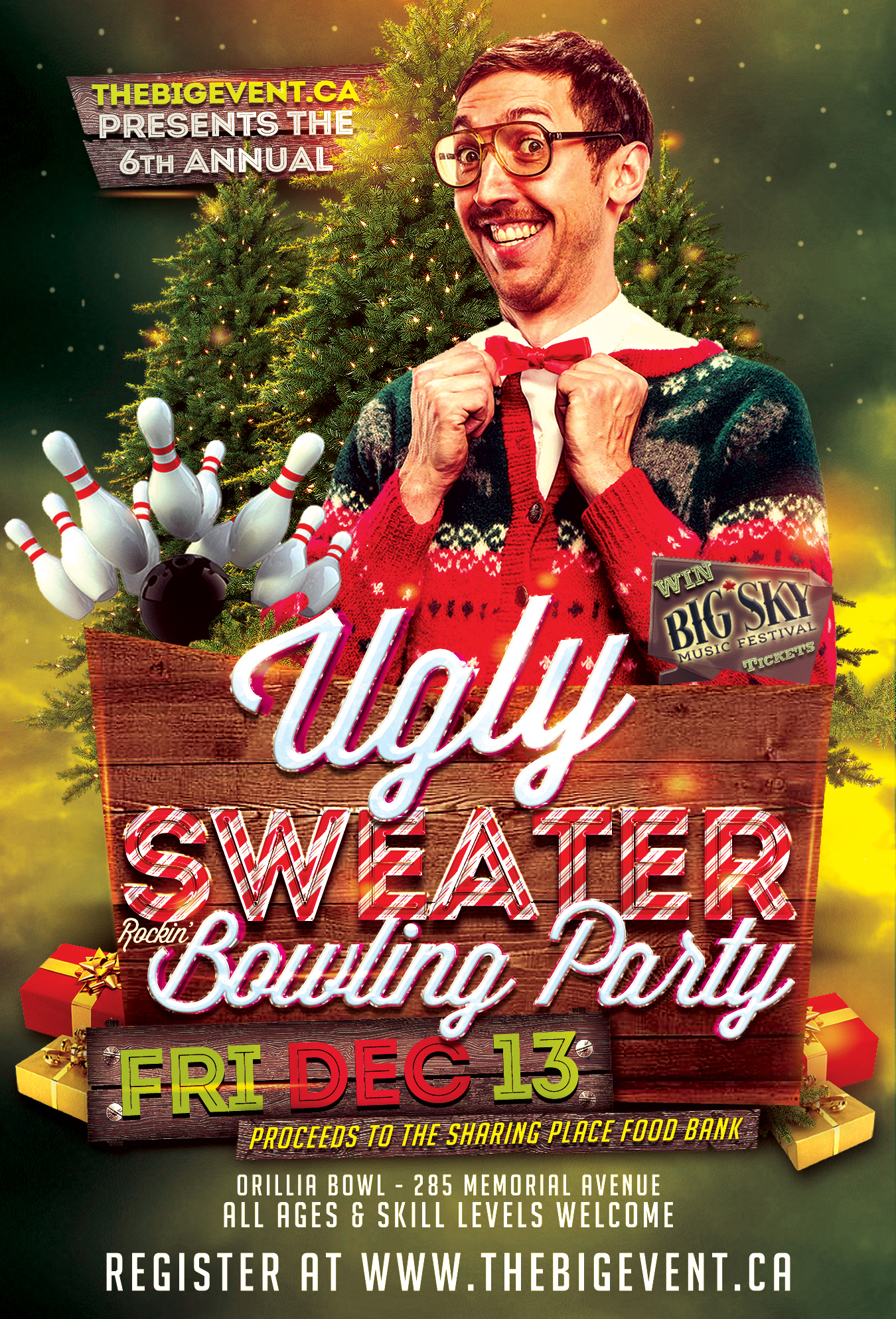 Ugly Sweater Poster 2019 - 6TH ANNUAL UGLY SWEATER BOWLING PARTY