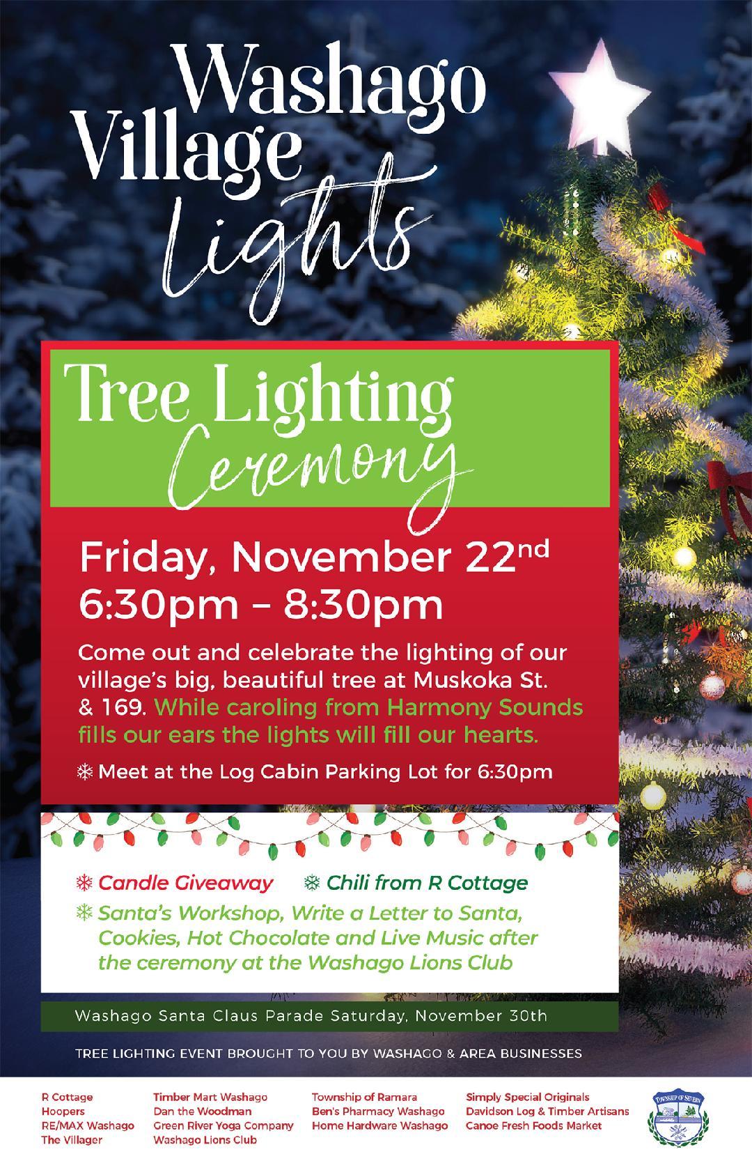 PosterFinal1 - WASHAGO TREE LIGHTING CEREMONY