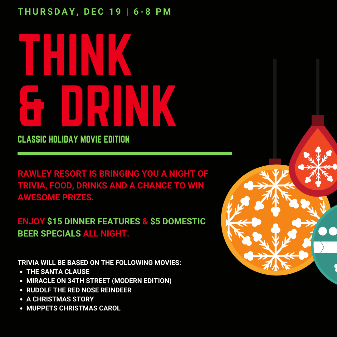think drink 11 1 - THINK & DRINK - CLASSIC HOLIDAY MOVIE EDITION