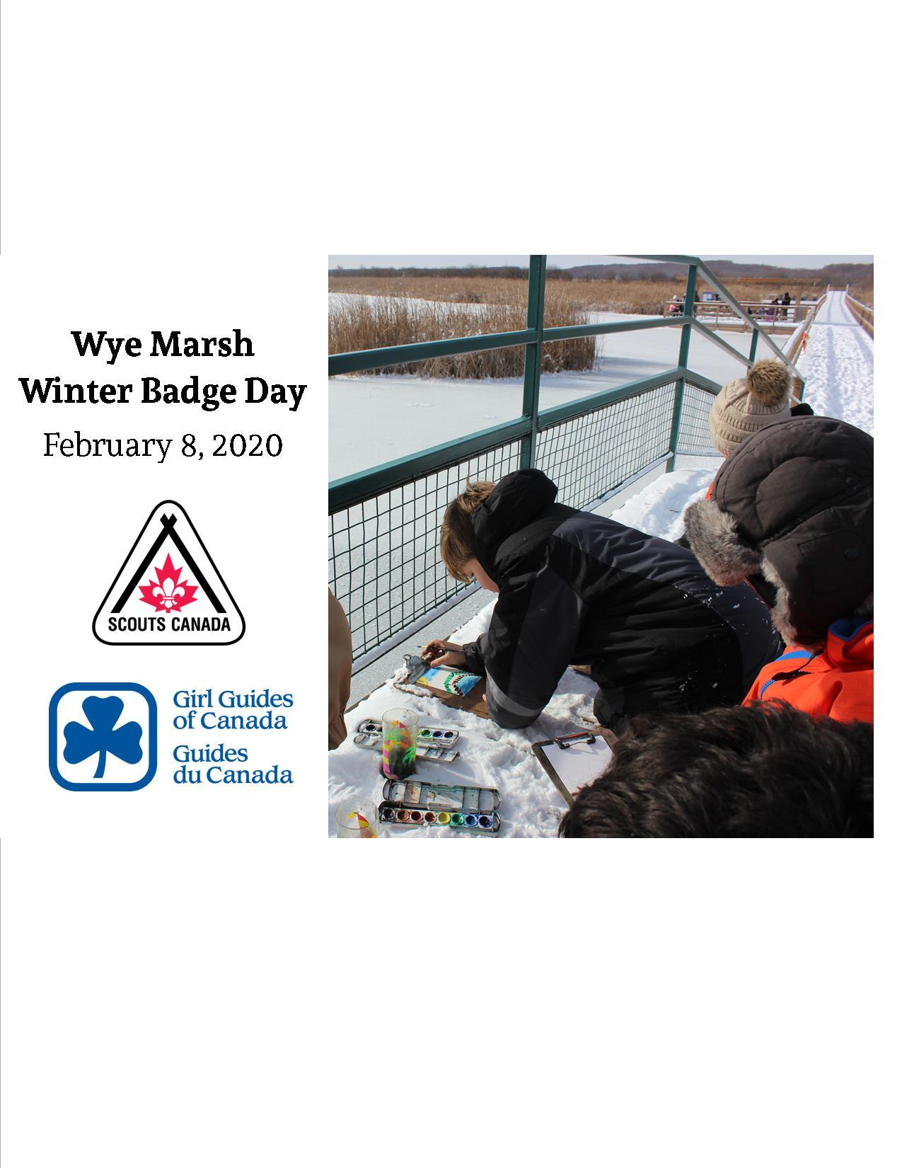 Wye Marsh Winter Badge Days - BADGE DAYS AT WYE MARCH: WINTER