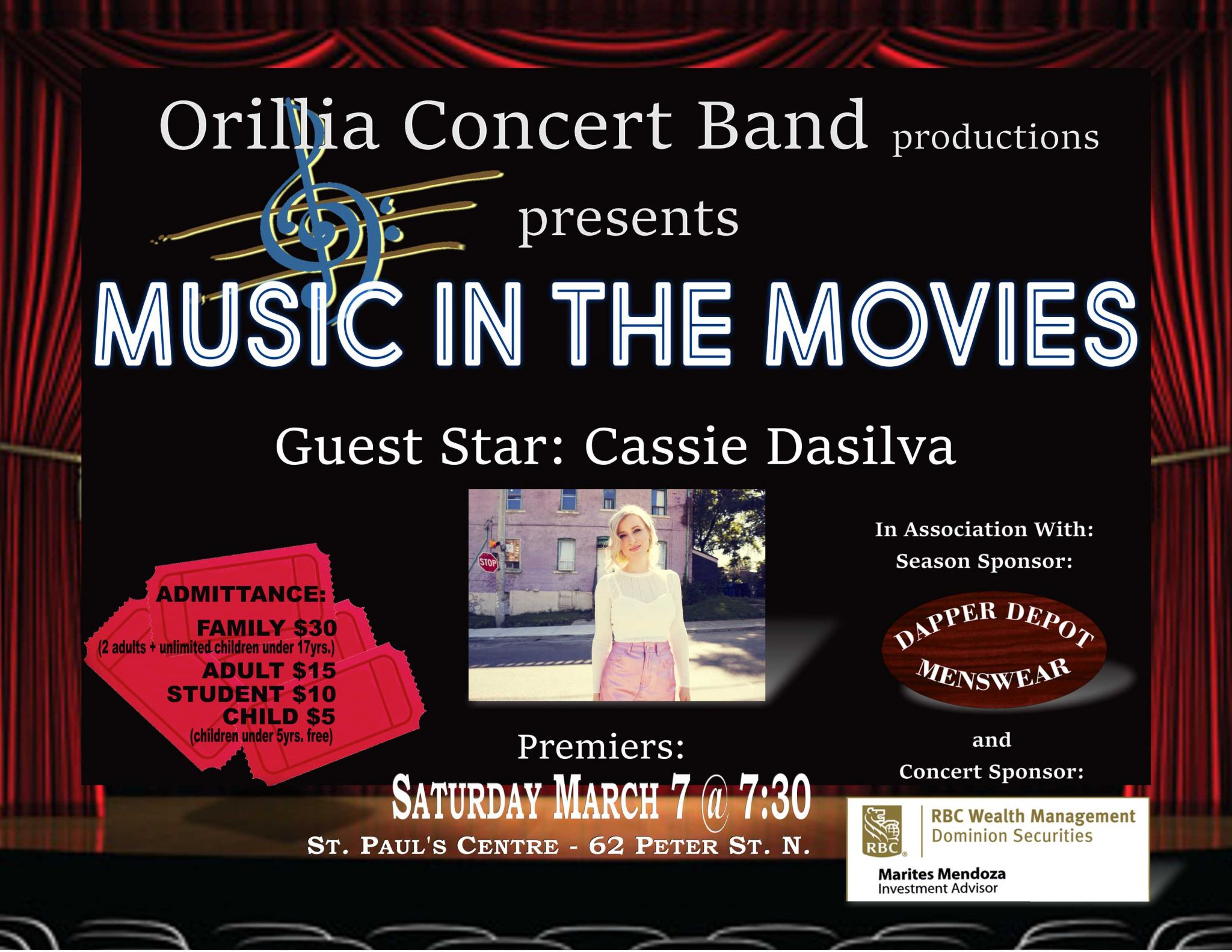 """20200307 MusicInTheMovies - ORILLIA CONCERT BAND """"MUSIC IN THE MOVIES"""""""