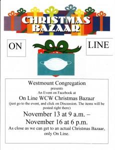 Poster for On Line Christmas Bazaar 230x300 - On Line WCW Christmas Bazaar