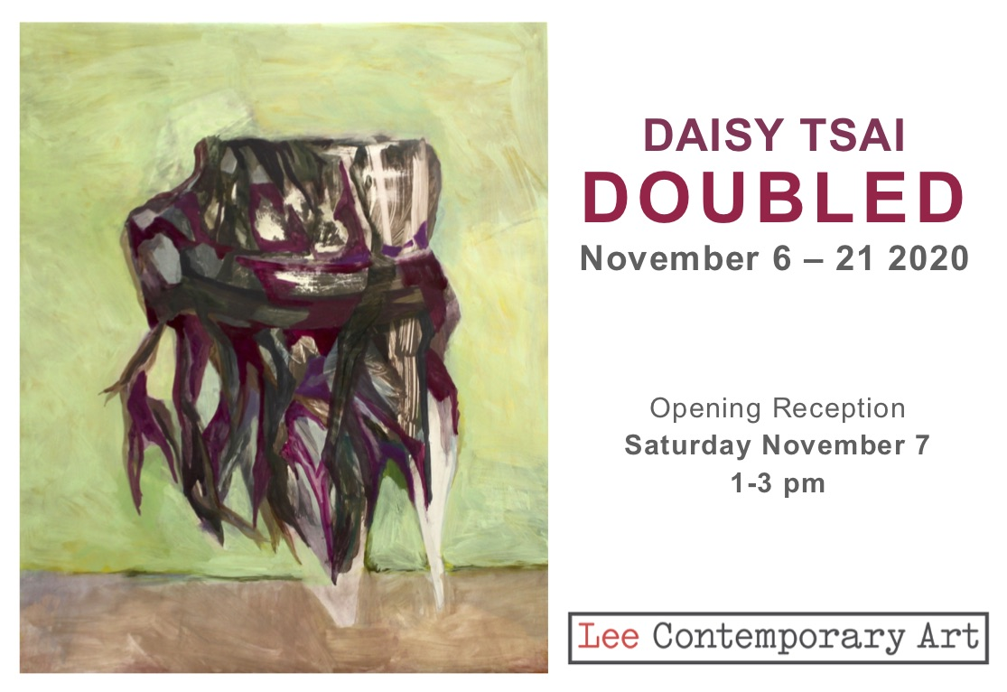 Daisy Tsai Doubled Invite 2020 front - Daisy Tsai: Doubled.  An exhibition of new paintings at Lee Contemporary Art
