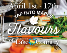 TAP INTO MAPLE FLAVOURS OF ONTARIO'S LAKE COUNTRY 2016