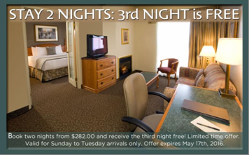 Stay 2 Nights Get 3rd Free