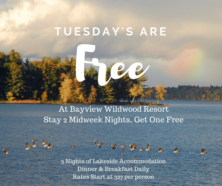 Tuesday's Are Free Midweek Package