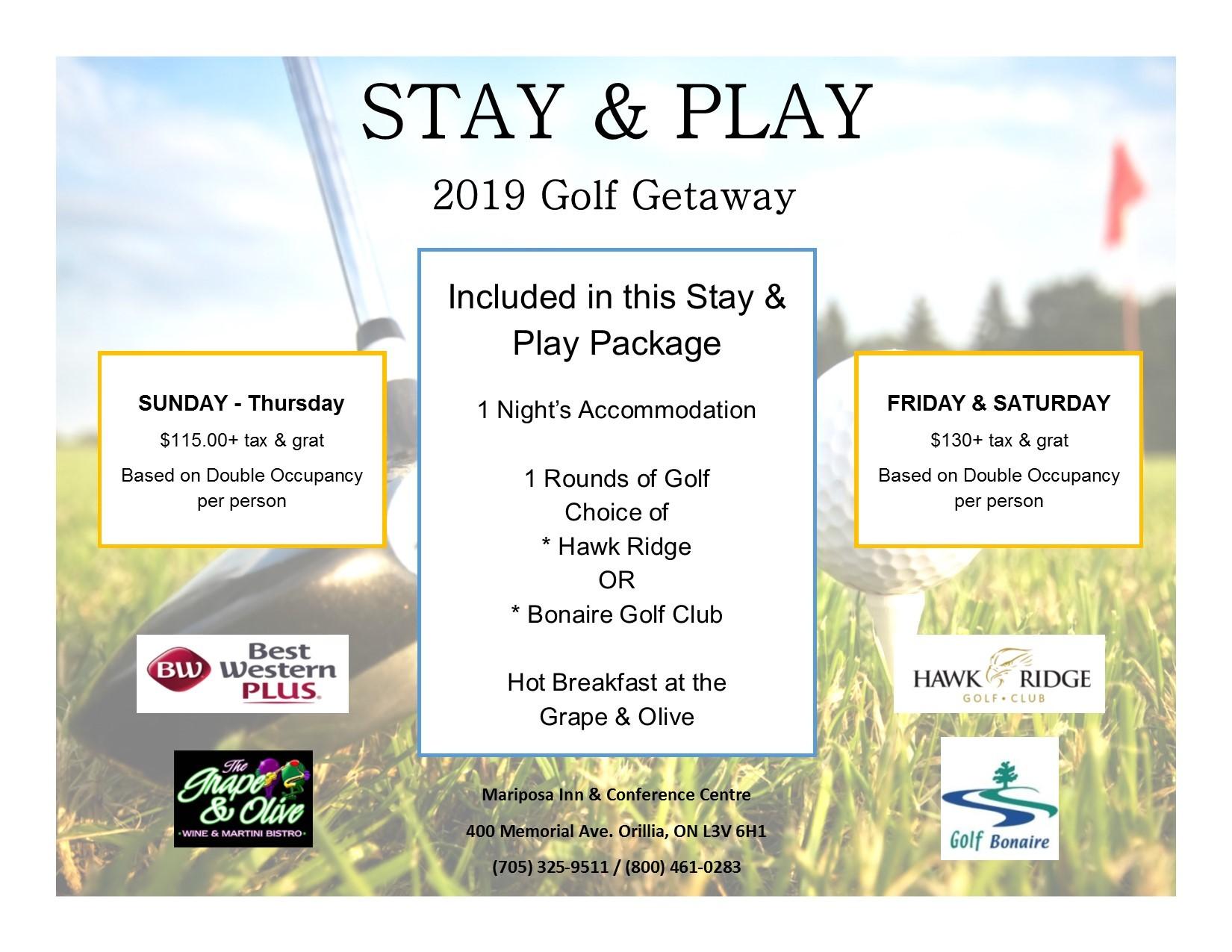 Stay & Golf Getaway