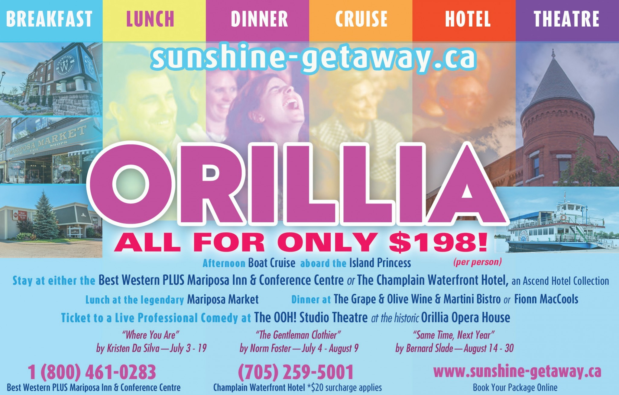 Orillia's Sunshine Getaway Package