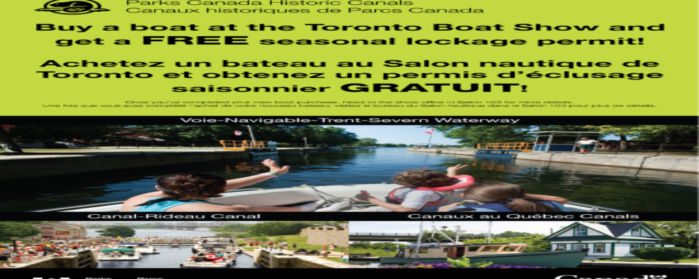 Parks Canada promotions on the Trent-Severn!
